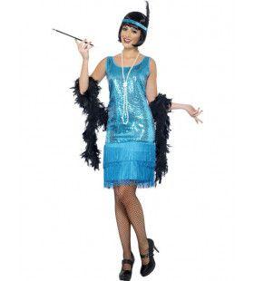 Glimmende Flapper Dress Vrouw Kostuum