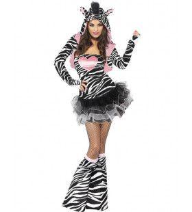 Sexy Zebra Vrouw Kostuum