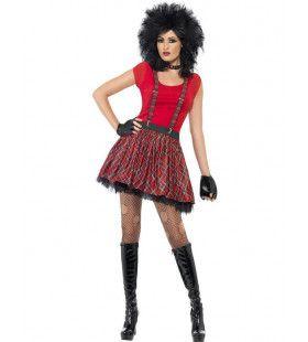 Vrouwen Punk Kit Vrouw Kostuum