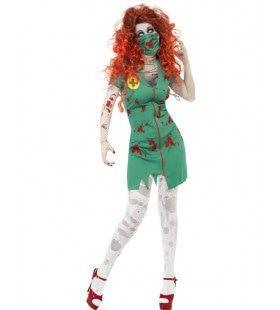 Vrouwen Zombie Eerste Hulp Arts Vrouw Kostuum