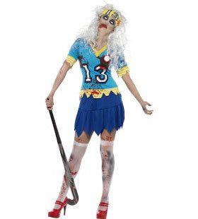 Zombie Hockey Meisje Vrouw Kostuum