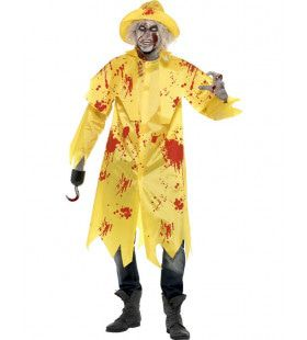 Zombie Visser Man Kostuum