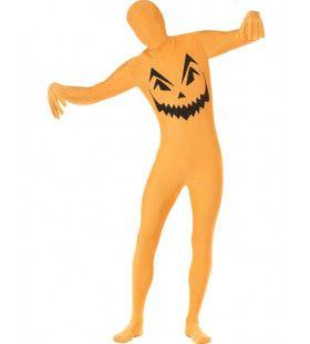 Pompoen Second Skin Kostuum