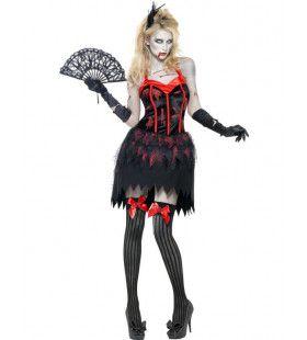 Sexy Zombie Burlesque Vrouw Kostuum