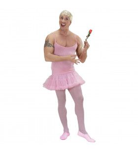 Prima Ballerina Roze Man Kostuum