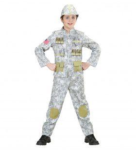 Us Soldaat Woestijn Jongen Kostuum