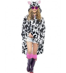 Grappige Koeien-Regen-Poncho Kostuum