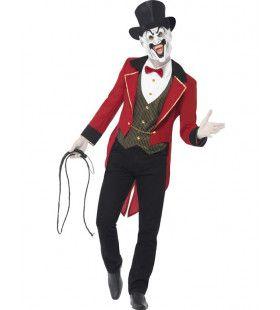 Volwassen Sinistere Circusdirecteur Kostuum Man