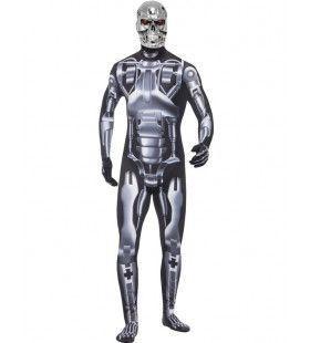 Futuristisch Endoskelet Robot Man Kostuum