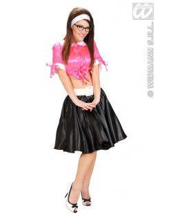 Satijnen Rokje Met Petticoat Zwart