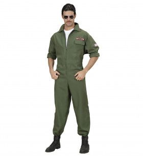Top Gun Piloot Gevechtsvliegtuig Man Kostuum