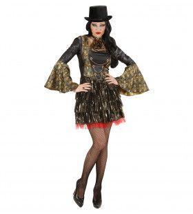Extravagante Gotische Vampier Vrouw Kostuum