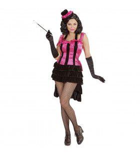 Brutale Burlesque Diva Vrouw Kostuum