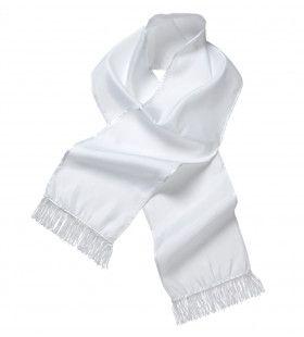 Witte Sjaal Satijn