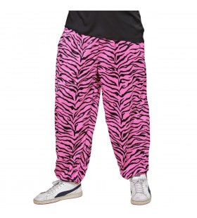 Baggy Broek 80s Zebra Roze