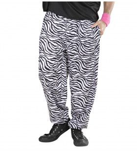 Baggy Broek 80s Zebra