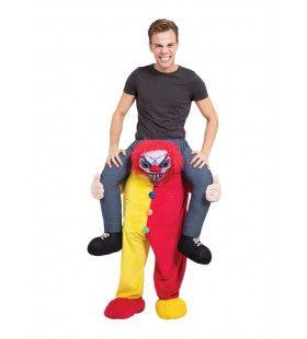 Op De Rug Van Een Enge Clown Man Kostuum