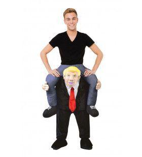 Op De Rug Van Donald Trump Man Kostuum