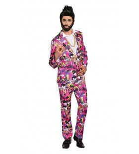 Cool Pop Art Stripkostuum Man Kostuum