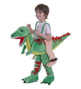 Ritje Op Een Dinosaurus Kind Kostuum