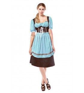 Munchen Madchen Blauw / Bruin Vrouw Kostuum