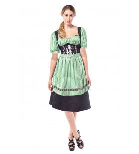 Munchen Madchen Zwart / Groen Vrouw Kostuum