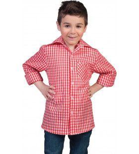 Rood-Wit Tiroler Hemd
