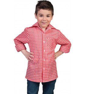 Rood-Wit Tiroler Hemd Jongen