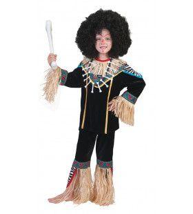Inboorling Jongen Smurfafa Kostuum