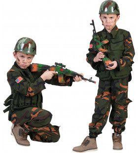 Amerikaanse Sniper Commando Jongen Kostuum