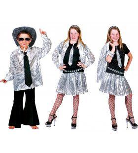 Zilver Shadow Hemd Jongen Kostuum