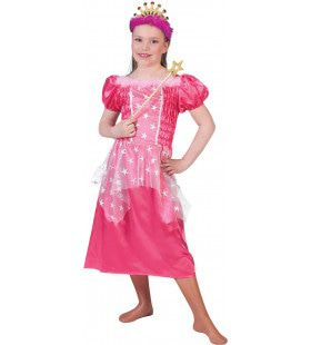 Roze Prinses Pricilla Meisje Kostuum