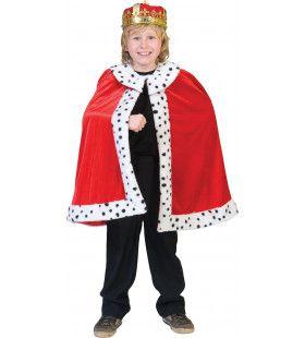 Koning Arthur Cape Kind Kostuum