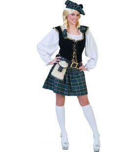 Blauwe Schotse Oconnor Vrouw Kostuum