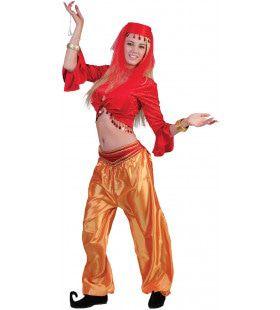 Jasmijn Topje Buikdanseres Rood Vrouw