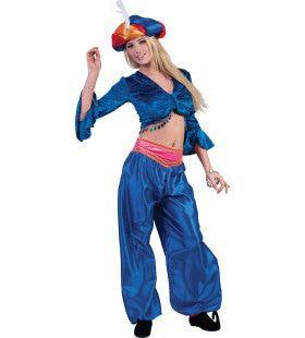 Jasmijn Topje Buikdanseres Blauw Vrouw