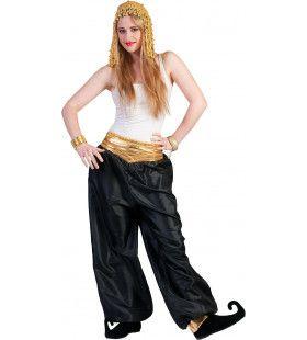 Zwarte Oosterse Broek Vrouw Kostuum