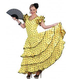 Ole Ole Lange Gele Flamencojurk Vrouw