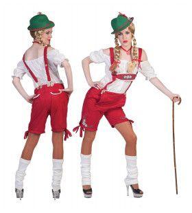 Rotes Raum Shorts Vrouw Kostuum