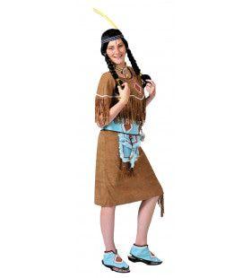 Anoki Strijder Indiaan Vrouw Kostuum