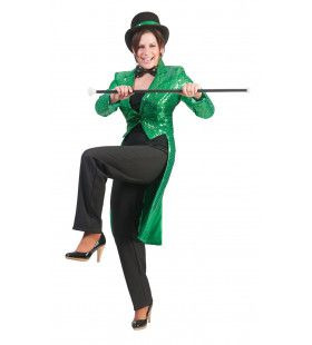 Frackjas Groen Vrouw Kostuum