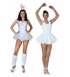 Ballerina Vrouw Wit Kostuum
