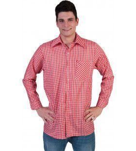 Rood Geblokt Munchen Tiroler Cowboy Hemd Man
