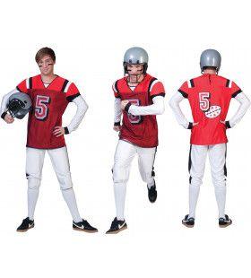 American Football Highschool Quarterback Man Kostuum