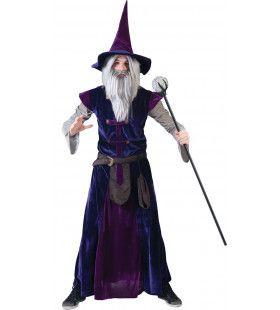 Purpuralla Toverspreuk Tovenaar Man Kostuum