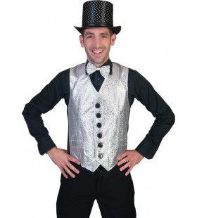 Show Vest Zilver Man