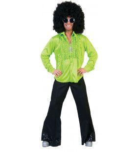 Zaterdag Disco Hemd Groen