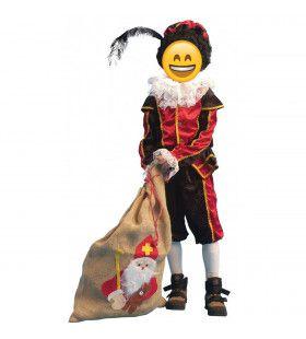 Zwart-Rode Piet Kind / Tiener Kostuum