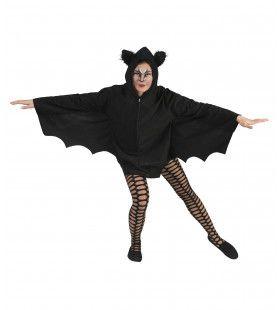 Snoezelige Zwarte Cape Vrouw Kostuum