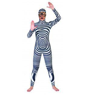 Psychedelisch Jumpsuit Vrouw Kostuum